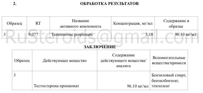 test propionate sp